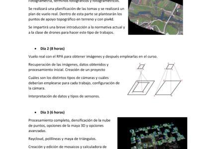 Curso fotogrametría con drones