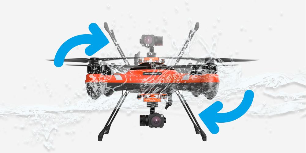 dron impermeable splashdrone 3 +
