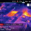 Imagen ejemplo del mavic 2 Enterprise dual con cámara térmica y área de valores térmicos