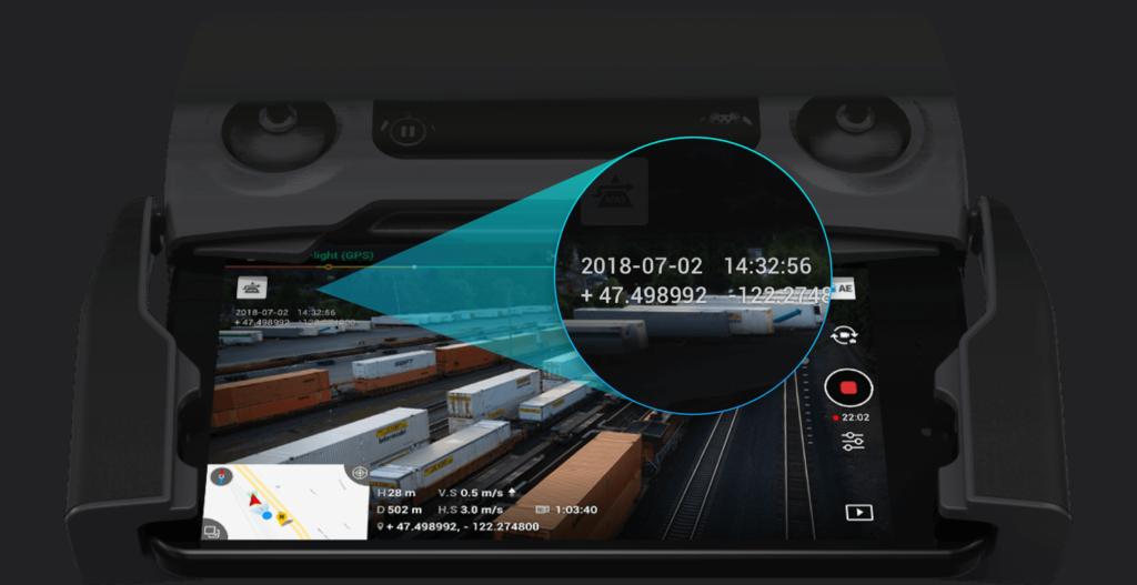 Posicionamiento de las fotos en Mavic 2 Enterprise Dual