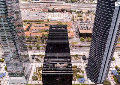 Foto 4 torres de Madrid con dron