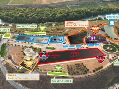 Zona del evento internacional nacional de drones